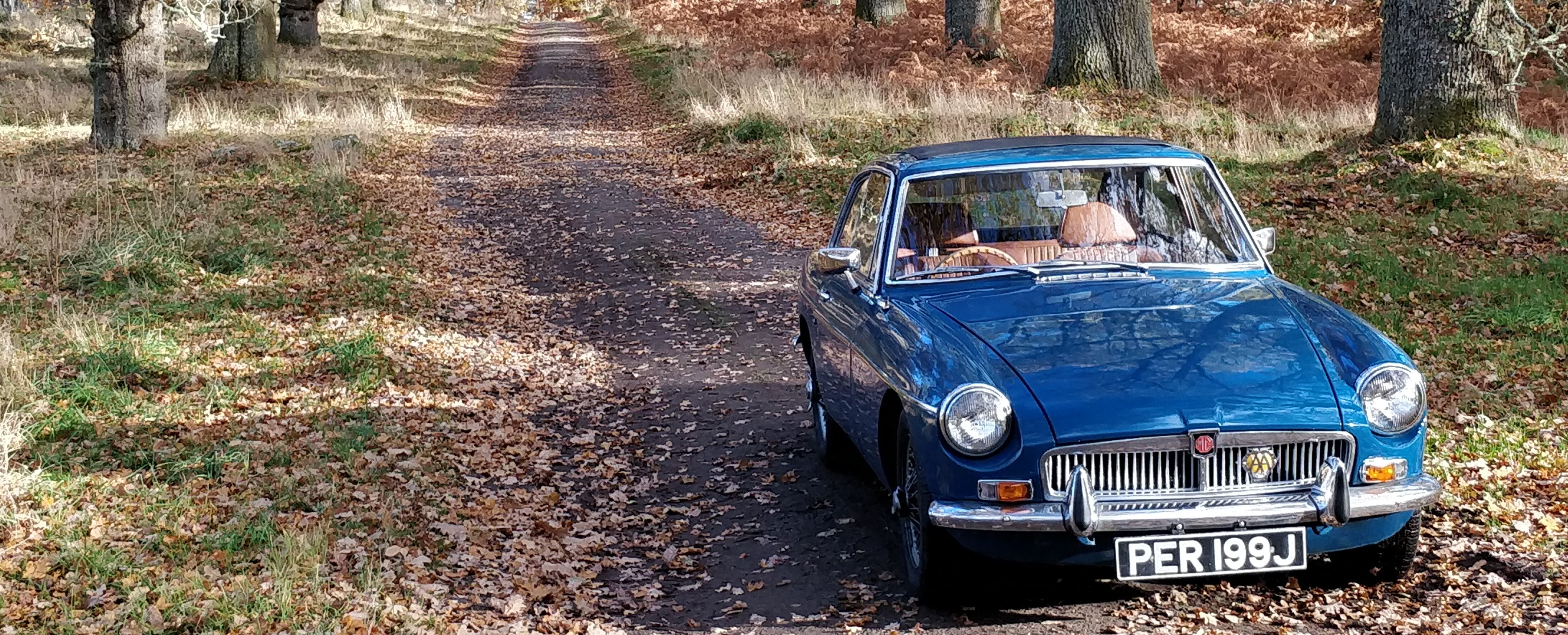 MGB GT for self drive hire